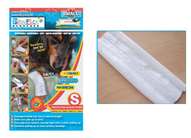 "Pawflex - 3 Protecto/Cover strips each 8"" long Yields up to 11 covers - Small - 1 Case"