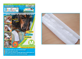 "Pawflex - 3 Protecto/Cover strips each 12"" long Yields up to 9 covers - Medium - 1 Case"