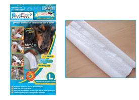 "Pawflex - 3 Protecto/Cover strips each 12"" long Yields up to 9 covers - Large - 1 Case"
