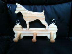 Fine Crafts - Wooden Dobermann Leash Holder