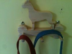 Fine Crafts - Wooden Great Dane Leash Holder