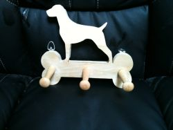 Fine Crafts - Wooden Labrador Leash Hanger