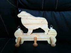 Fine Crafts - Wooden Shetland Leash Hanger