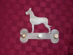 Fine Crafts - Wooden Great Dane Leash Hanger