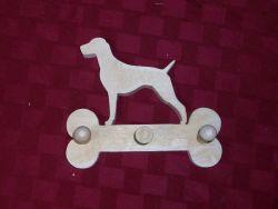 Fine Crafts - Wooden Labrador Retriever Leash Hanger