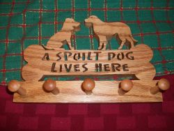 Fine Crafts - A Spoilt Dog Lives Here Wood Mug Holder