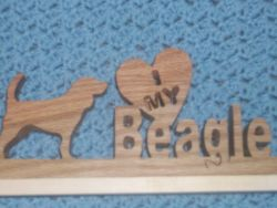 Fine Crafts - I Love My Beagle Plaque