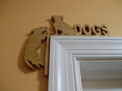 Fine Crafts - Wooden Dogs Corner Door Topper