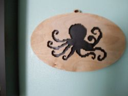Fine Crafts - Wooden Octopus Wall Hanging