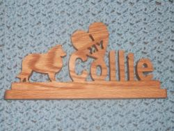 Fine Crafts - I Love My Collie Wood Sign