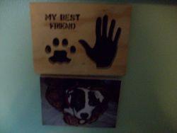 Fine Crafts - Wooden My Best Friend Wall Hanging