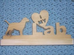 Fine Crafts - I Love My Lab Wood Sign