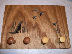 Fine Crafts - Wooden Cheseapeake Bay Retriever Wall Hanging