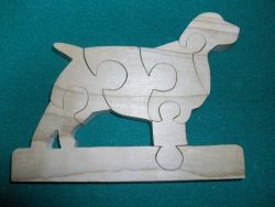Fine Crafts - Wooden Spaniel Shaped Jigsaw Puzzle