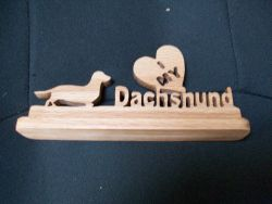 Fine Crafts - Wooden I Love My Dachsund Display