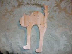 Fine Crafts - Wooden Scary Cat Jigsaw Puzzle
