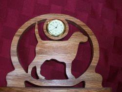 Fine Crafts - Wooden Dog Miniature Desk Clock