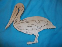 Fine Crafts - Wooden Pelican Jigsaw Puzzle