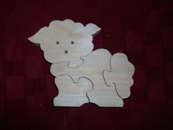 Fine Crafts - Wooden Lamb Shaped Jigsaw Puzzle