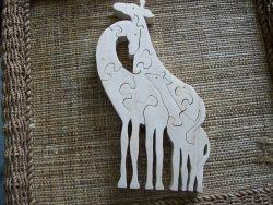 Fine Crafts - Wooden Giraffes Jigsaw Puzzle