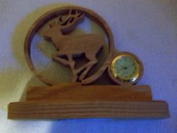 Fine Crafts - Wooden Deer Miniature Desk Clock