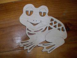 Fine Crafts - Wooden Frog Display