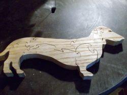 Fine Crafts - Wooden Dachsund Jigsaw Puzzle
