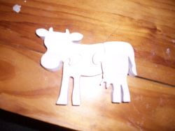Fine Crafts - Wooden Cow Shaped  Jigsaw Puzzle
