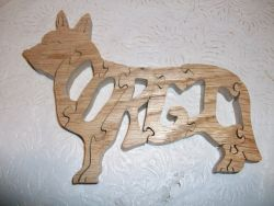 Fine Crafts - Wooden Corgi Jigsaw Puzzle