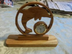 Fine Crafts - Dolphin Miniature Desk Clock