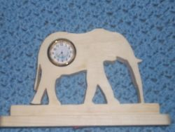 Fine Crafts - Elephant Miniature Desk Clock