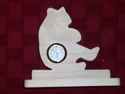 Fine Crafts - Wooden Bear Shaped Mini Desk Clock