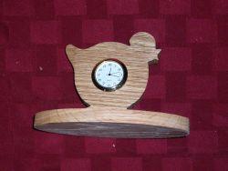 Fine Crafts - Wooden Chick Mini Desk Clock