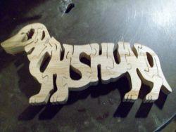 Fine Crafts - Wooden 8 Piece Dachsund Jigsaw Puzzle