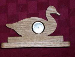 Fine Crafts - Wooden Duck Shaped Mini Desk Clock