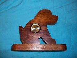 Fine Crafts - Wooden Dog Mini Desk Clock