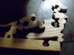 Fine Crafts - Wooden 5 Piece Dachsund Jigsaw Puzzle