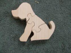 Fine Crafts - Wooden 4 Piece Dog Jigsaw Puzzle