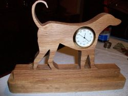 Fine Crafts - Dog Miniature Wooden Desk Clock