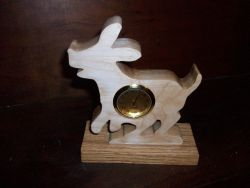 Fine Crafts - Dog Mini Wooden Desk Clock