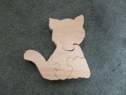 Fine Crafts - Wooden 4 Piece Cat Jigsaw Puzzle