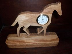 Fine Crafts - Horse Mini Desk Clock