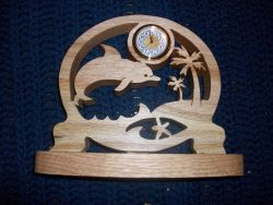 Fine Crafts - Dolphin Mini Desk Clock