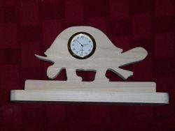 Fine Crafts - Wooden Turtle Shaped Mini Desk Clock