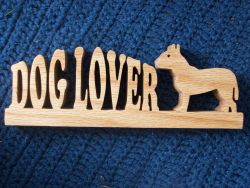 Fine Crafts - Dog Lover Wooden Display