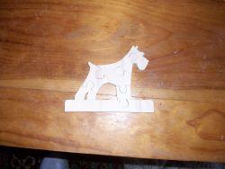 Fine Crafts - Schnauzer Wooden Jigsaw Puzzle