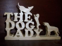 Fine Crafts - Dog Lady Wood Display