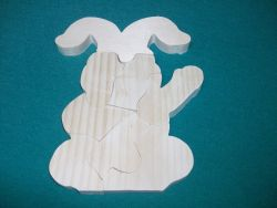 Fine Crafts - Bunny Rabbit Wooden Jigsaw Puzzle