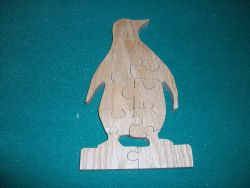 Fine Crafts - Penguin Wooden Jigsaw Puzzle