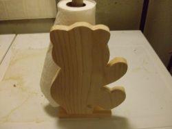 Fine Crafts - Wooden Bear Paper Towel Holder